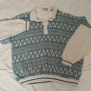 Vintage 80's CC Sport Polo Collar Shirt L